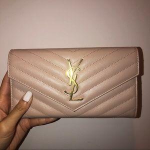 New ysl saint Laurent monogram large flap wallet